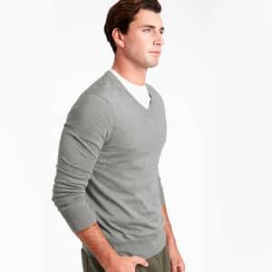 Banana Republic Men's Silk Cotton Cashmere V-Neck Sweater for $22
