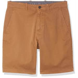 Perry Ellis Men's Solid Twill Shorts, Otter, 31 for $42