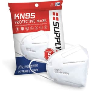 SupplyAID KN95 Face Mask 5-Pack for $6