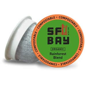 SF Bay Coffee Organic Rainforest Blend 12 Ct Medium Roast Compostable Coffee Pods, K Cup Compatible for $12