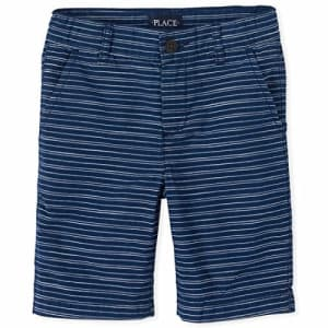 The Children's Place Boys' Striped Chino Shorts, Milky Way, 16 for $16