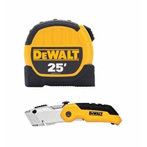 Dewalt DWHT3610735L 25ft. Tape Measure and Folding Utility Knife Combo Pack, Yellow/Black for $34