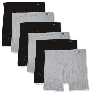 Hanes Men's Tagless ComfortSoft Waistband Boxer Briefs 6-Pack for $20