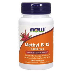 Now Foods NOW Supplements, Methyl B-12 (Methylcobalamin) 5,000 mcg, Nervous System Health*, 60 Lozenges for $18
