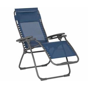 Lafuma Futura Zero Gravity Patio Recliner (Ocean Blue Batyline Canvas) Outdoor Folding Lounge Chair for $230