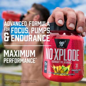 BSN N.O.-XPLODE Pre-Workout Supplement with Creatine, Beta-Alanine, and Energy, Flavor: Grape, 30 for $27