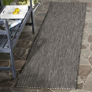 """Safavieh Courtyard Collection CY8521-36621 Black and Beige Indoor/ Outdoor Area Rug (2' x 3'7"""") for $22"""
