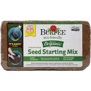 Burpee Organic Concentrated Seed Starting Mix for $11