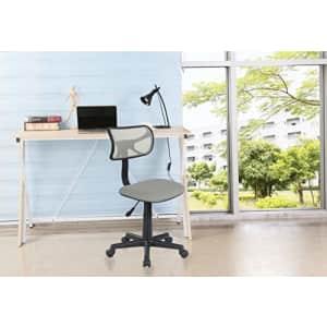 Urban Shop Swivel Mesh Task Chair, Silver for $39