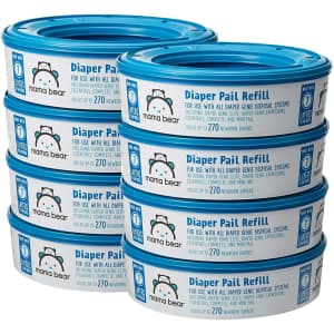 Mama Bear 270-Count Diaper Pail Refills 8-Pack for $25 via Sub & Save