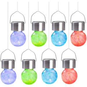 Solpex Hanging Solar Light 8-Pack for $24