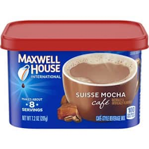 Maxwell House International Cafe Suisse Mocha Instant Coffee (7.2 oz Canisters, Pack of 4) for $29