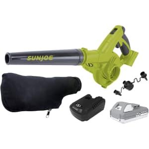 Sun Joe 92-CFM Max Cordless Workshop Blower Kit for $61