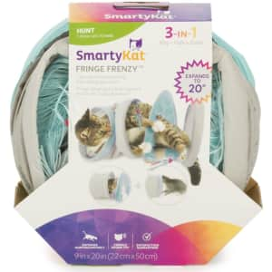 SmartyKat Fringe Frenzy Cat Activity Tunnel for $9
