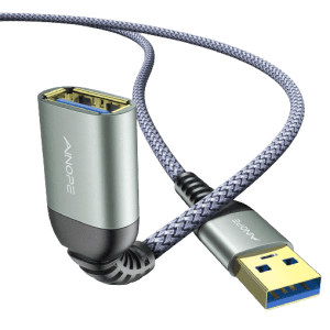 Ainope 6.6-Foot USB 3.0 Extension Cable 2-Pack for $10