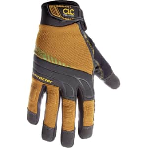 Custom LeatherCraft Contractor XtraCoverage Flex Grip Work Gloves for $19