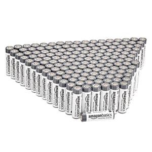 Amazon Basics 300 Pack AA Industrial Alkaline Batteries, 5-Year Shelf Life, Easy to Open Value Pack for $57