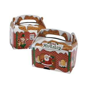 Fun Express SANTA'S WORKSHOP TREAT BOXES - Party Supplies - 12 Pieces for $13