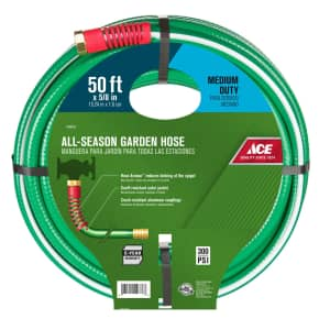 """Ace Hardware 5/8"""" x 50-Foot Medium-Duty Hose for $12 for Ace Rewards Members"""