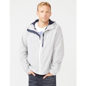 Nautica Men's Fleece-Lined Hooded Jacket for $25