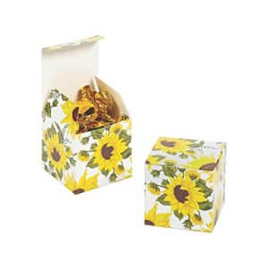 Fun Express Sunflower 2In Gift Boxes 24Pc - Party Supplies - 24 Pieces for $9