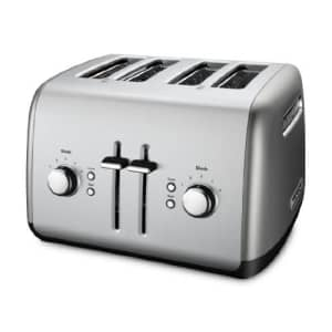 KitchenAid Kmt4115cu 4-Slice Toaster with Manual High-Lift Lever, Contour Silver for $70