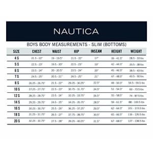Nautica Boys Size School Uniform Flat Front Twill Short, Navy, 5 Slim for $38