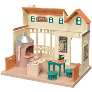 Calico Critters Village Pizzeria Dollhouse Playset for $54