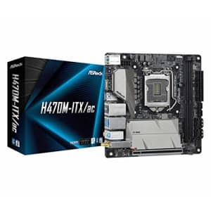 ASROCK H470M-ITX/AC Supports 10th Gen Intel Core Processors (Socket 1200) Motherboard for $120