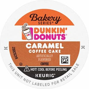 Dunkin Donuts Dunkin' Donuts Bakery Series Caramel Coffee Cake Flavored Coffee, 60 K Cups For Keurig Coffee for $15