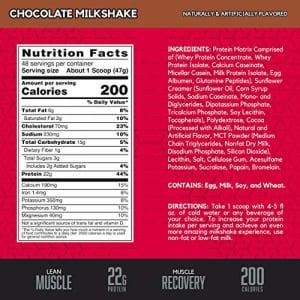 BSN SYNTHA-6 Whey Protein Powder, Micellar Casein, Milk Protein Isolate, Chocolate Milkshake, 48 for $48