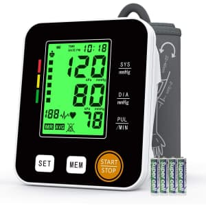 Annsky Upper Arm Blood Pressure Monitor for $15