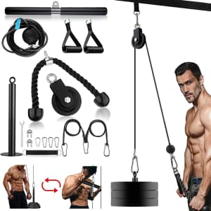 Linglong Home Gym Pulley Cable System for $28