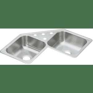 Elkay Dayton Stainless Steel 4-Hole Corner Sink for $211