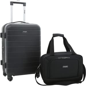 Wrangler 2-Piece Carry-On Luggage Set for $90