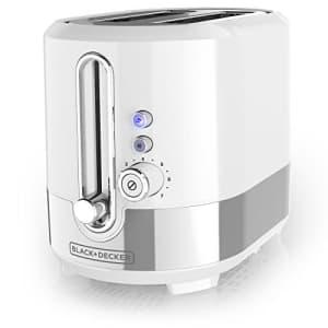 Black + Decker Black+Decker TR2200WSD 2 Slice Toaster with extra wide slots, Medium, White for $40