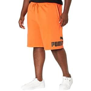 "PUMA Men's Big & Tall Big Logo 10"" Shorts BT, Tigerlily/Black, XLT for $24"