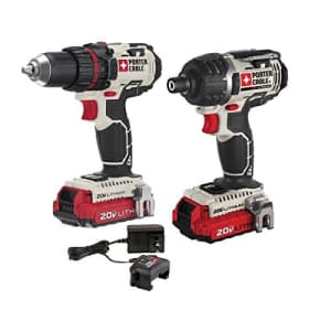Porter-Cable PCCK602L2 20V Max lithium ion cordless combo kit w/ drill, impact driver & soft case for $191
