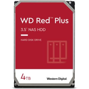 """WD Red Plus 4TB 3.5"""" Internal NAS Hard Drive for $104"""
