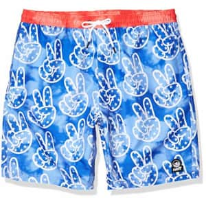 NEFF Men's Hot Tub Swim Surf Shorts, Navy, L for $28