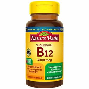 Nature Made Sublingual Vitamin B12 3000 mcg Micro-Lozenges, 40 Count (Packaging May Vary) for $15
