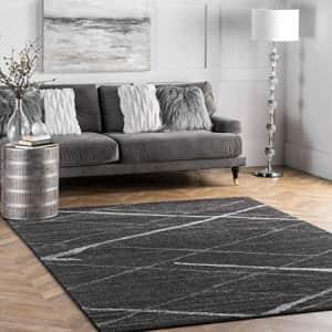 """nuLOOM Thigpen Contemporary Area Rug, 7' 6"""" x 9' 6"""", Dark Grey for $158"""
