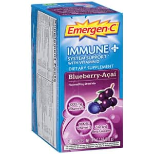 Emergen-C Immune+ System Support Dietary Supplement with Vitamin D (Blueberry-Acai Flavor, 30-Count for $55