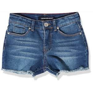Calvin Klein Girls Cut-Off Denim Short, Boyfriend Authentic S20, 12 for $24