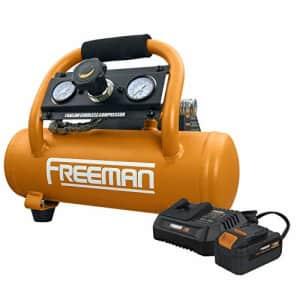 Freeman PE20V1GCK 1 Gallon 20 Volt MAX Cordless 1/3 HP Portable Electric Oil-Free Air Compressor for $199