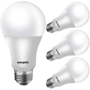 Energetic Lighting A19 LED Light Bulb 4-Pack for $5