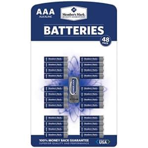 Member's Mark AAA Alkaline Batteries - 48 pk. for $26