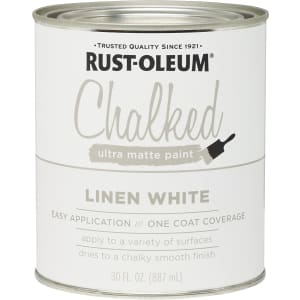 Rust-Oleum Ultra Matte Interior Chalked Paint 30-oz. Can for $11