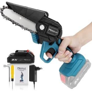 """Merece 4"""" 20V Mini Chainsaw for $70"""