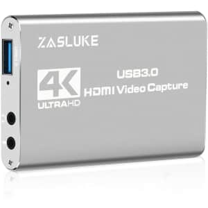 ZasLuke USB 3.0 Audio Video Capture Card for $36